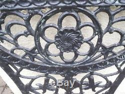 Cast Iron Garden Bench Ends and Table Ends Victorian Very Heavy