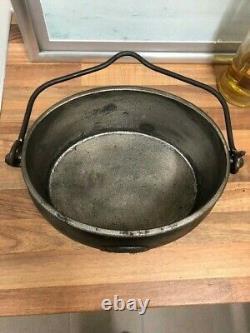 Cast Iron Gypsy Romany 1 Gallon Pot & Tin Lid Traveller Pan