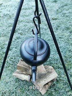 Cast Iron Gypsy Romany 9 Pint Kettle Scottish Falkirk Open Fire Range