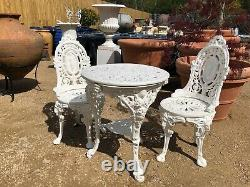 Cast Iron Patio Set cast iron table and two chairs