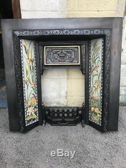 Cast Iron Victorian Fireplace Refurbished