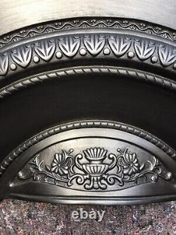 Cast Iron Victorian Style Fire Surround / Fireplace Insert, Arched Uk Delivery