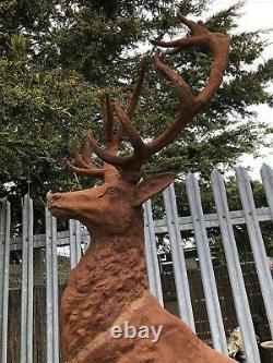 Cast Iron stag on rock Proud Stag Skyfall Entrance Stag pier