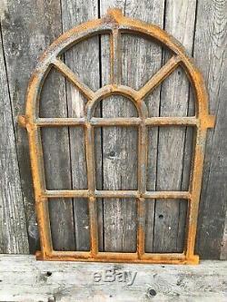 Cast iron Arch industrial style window frame 94x67cm Mirror frame No glass