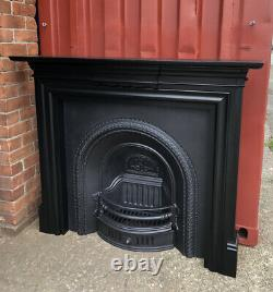 Cast iron fireplace And Surround DELIVERY FREE IR £35 Most Uk