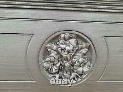Cast iron fireplace mantel surround