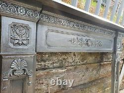 Cast iron fireplace mantel surround ideal for stove or woodburner stock item J2