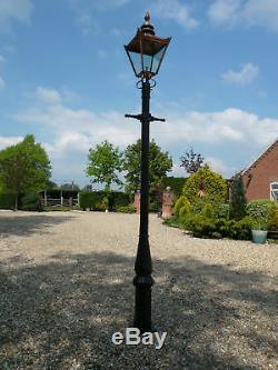 Cast iron lamp Post & Copper colour top street light Medium 3 meter 30cm tall