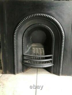 Cast iron & slate Victorian fire surround mantel fireplace