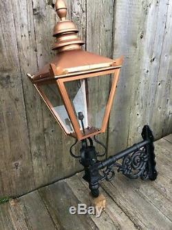 Copper colour Victorian style lantern on short Cast iron Bracket NEW