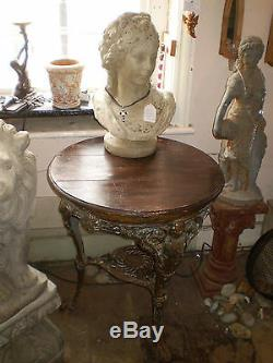 EARLY VICTORIAN 1850c CAST IRON PUB TABLE, GARDEN, ARCHITECTURAL RECLAMATION
