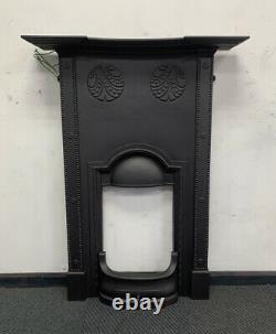 FITS FLAT WALL Antique Art Nouveau Cast Iron Fireplace DELIVERY £35 UK