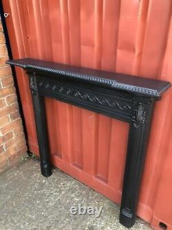 FLAT WALL Victorian Antique Cast Iron fire Surround, Delivery Free / £35 Uk