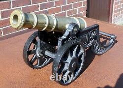 Fine quality Victorian antique brass cast iron scale model field gun cannon