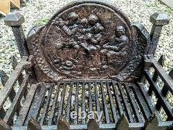 Fire Box Basket Grate Cast Iron Fire Place Grill 15.5 X 10 X 15 Old Vintage