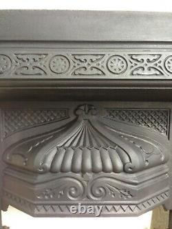 Fireplace Insert Original Victorian Cast Iron with Minton styleTiles