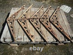 Five Antique Cast Iron Greenhouse Bracket. (Victorian)
