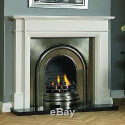 Gas Edwardian Victorian Georgian Arch Cast Iron Fireplace Cream Surround 56