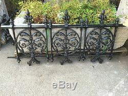 Gate posts and Gate, Gothic pedestrian gate, Cast Iron Arboretum terrace Gate