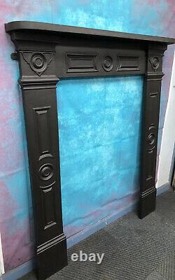 Georgian cast iron fire Surround suit wood burner DELIVERY FREE OR £35 Uk