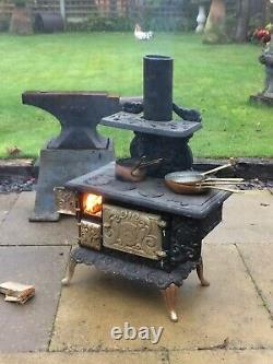 Gypsy Bow Top Wagon Miniature Bow Top Cast Iron Stove Wood Burner