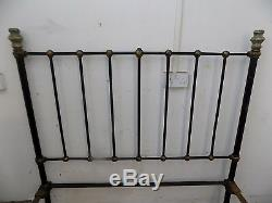 Iron, double bed, cast iron bed, bed, bedroom, bed frame, double, antique, victorian