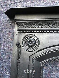 Large Antique Cast Iron Victorian Fire Surround / Fireplace Dated 1874 Falkirk
