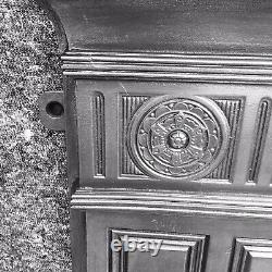 Large Antique Victorian Cast Iron Stove / Fireplace / Open Fire Surround
