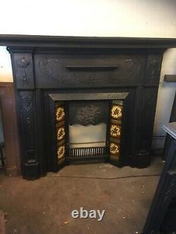 Large Original Victorian Cast Iron Surround