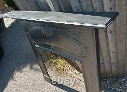 Large Stunning Arts And Crafts Cast Iron Fire Surround Free Delivery