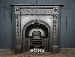 Large Victorian 19th Century Cast Iron Combination Fireplace (HB 477)