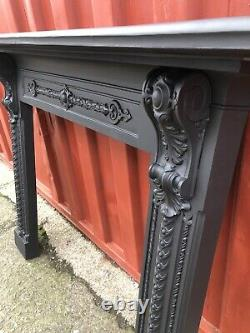 Large Victorian Cast Iron Fire Surround Suit Woodburner DELIVERY FREE OR £35 Uk