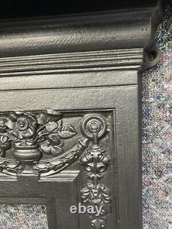 Large Victorian / Edwardian Style Cast Iron Fireplace / Open Fire / Surround