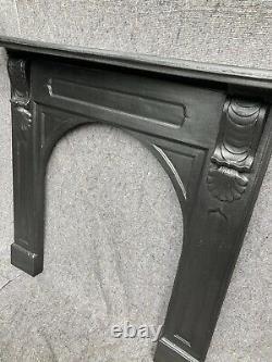 Large Victorian / Georgian Cast Iron Fireplace / Open Fire / Surround Restored