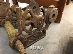 Large Wheeled Vintage Cast Iron Cannon Garden Centrepiece Ornament