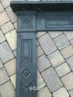 Lovely Antique Cast Iron Fire Surround