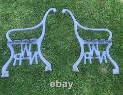 NWR Solid Cast Iron NWR Railway Station Bench Ends Garden Bench Ends