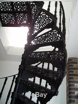 New 6' Diameter Antique Victorian Design Cast Iron Spiral Stair Staircase