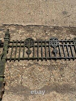 OLD VICTORIAN CAST IRON GATE RAILINGS RECLAIMED PERIOD METAL 19th CENTURY RARE