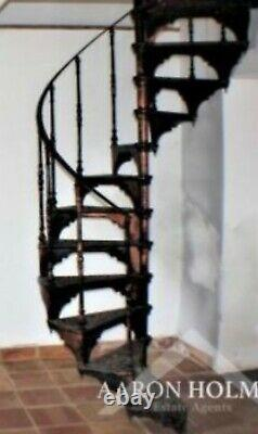 Old Cast Iron SPIRAL STAIRCASE Vintage Industrial Reclaimed Staircase