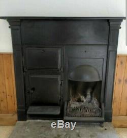 Original Antique Cast Iron Fire/Stove Cooking Range / Wood Burner Stunning