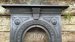 Original Antique Victorian Cast Iron Combination Fireplace