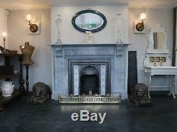Original Late 19th Century Victorian cast iron fireplace surround