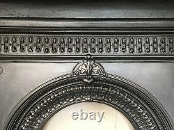 Original Restored Antique Cast Iron Victorian Fireplace Medium Bedroom (QP059)