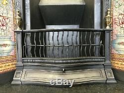 Original Restored Antique Cast Iron Victorian Tiled Insert Fireplace (QP371)