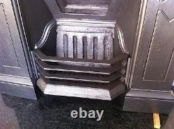 Original Restored Antique Victorian Cast Iron Bedroom Fireplace Medium (TA210)