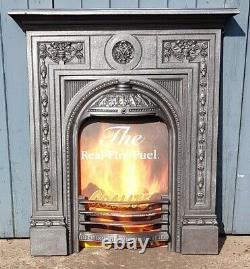 Original Restored Victorian Antique Cast Iron Bedroom Fireplace Birmingham c1886