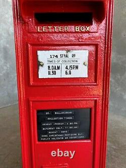 Original Royal Mail VR Cast Iron Wall Mounted Letter Box Red Victorian UKAA