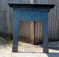 Original Victorian Cast Iron Fire Surround Perfect For Log Burner Free Delivery