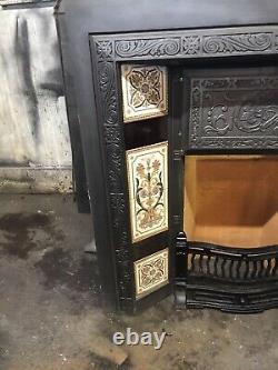 Original Victorian Cast Iron Fireplace Insert